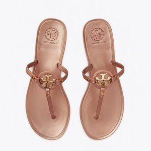 NEW 8 Tory Burch Mini Miller Jelly Rose Gold